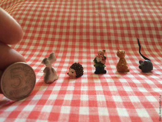 Статуэтки ручной работы. Ярмарка Мастеров - ручная работа. Купить декоративные миниатюрные  собачка, кошка, мышка, ежик, гном. Handmade.