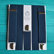 Аксессуары handmade. Livemaster - original item Dark blue suspenders mens wide 35 mm Elastis. Handmade.