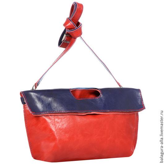 """Женские сумки ручной работы. Ярмарка Мастеров - ручная работа. Купить Клатч-пакет  """"Март"""". Handmade. Разноцветный, сумка кожаная"""