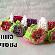 Работы для детей, ручной работы. Ярмарка Мастеров - ручная работа Пинетки тачки для девочек. Handmade.