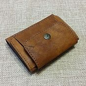 Сумки и аксессуары handmade. Livemaster - original item Wallet small leather. Genuine leather.. Handmade.
