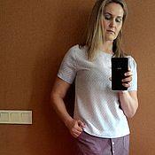 Одежда handmade. Livemaster - original item Skirt viscose, snap closure. Handmade.