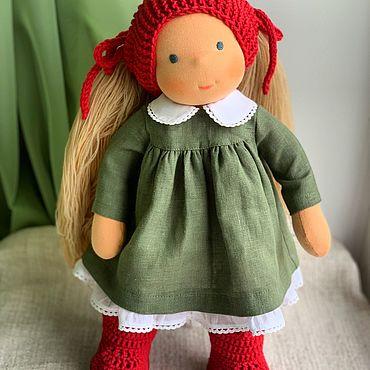 Куклы и игрушки ручной работы. Ярмарка Мастеров - ручная работа Куклы: Вишенка - вальдорфская куколка. Handmade.