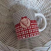 Материалы для творчества ручной работы. Ярмарка Мастеров - ручная работа Чашка c курицей. Handmade.