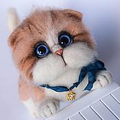 Куклы и игрушки handmade. Livemaster - original item The ginger cat toy from wool. Handmade.