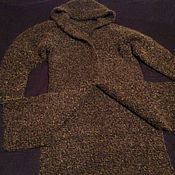 Одежда ручной работы. Ярмарка Мастеров - ручная работа Осеннее пальто из мохера с разрезами. Handmade.