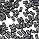 Для украшений ручной работы. Ярмарка Мастеров - ручная работа. Купить Чешские бусины Бриксы 3x6mm Матовый черный CzechMates Bricks 50шт. Handmade.