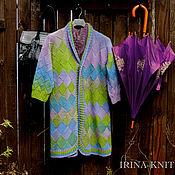 Одежда ручной работы. Ярмарка Мастеров - ручная работа Кардиган вязаный Сиреневый. Handmade.