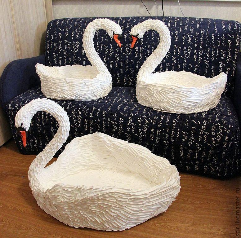Лебеди белые своими руками