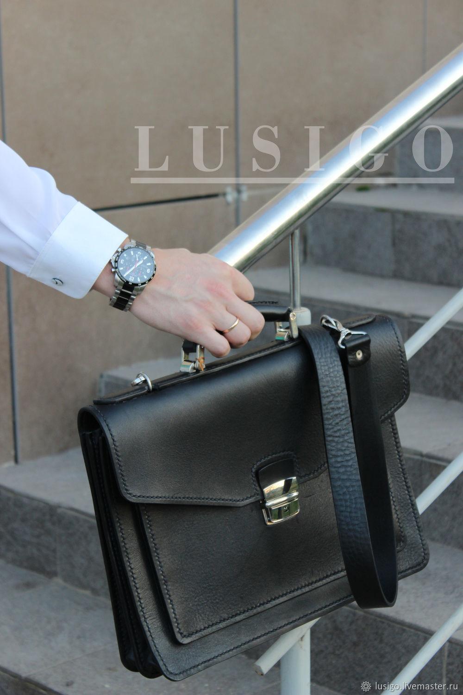 Портфель мужской кожаный. Классик, Сумки, Балашов, Фото №1