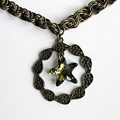 Украшения handmade. Livemaster - original item Pendant Swarovski on a chain Star. Handmade.