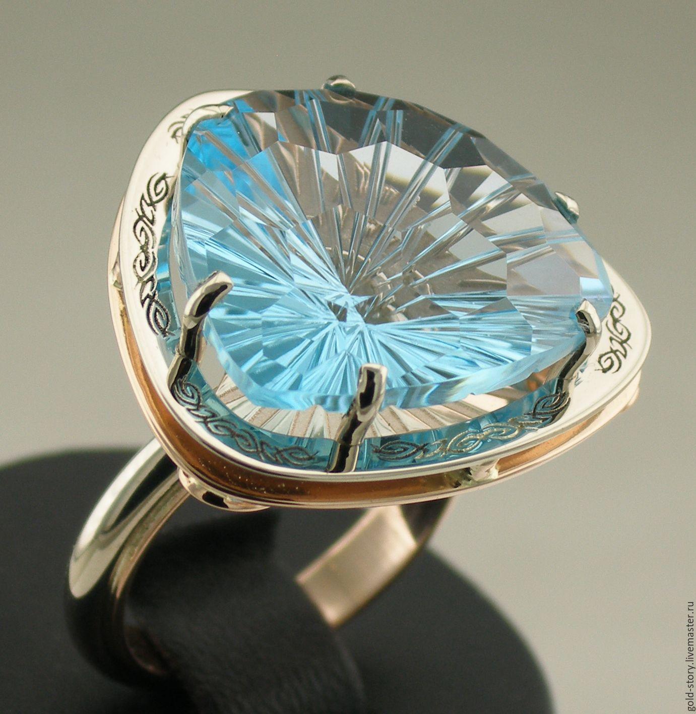 Кольца ручной работы. Ярмарка Мастеров - ручная работа. Купить Заказать золотое  кольцо с топазом ... d9f4c51833d
