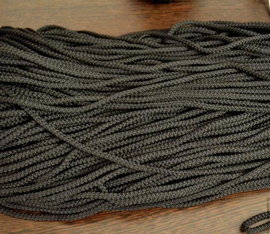 Шитье ручной работы. Ярмарка Мастеров - ручная работа. Купить Шнур для одежды 4,5мм черный.. Handmade. Черный, шнур