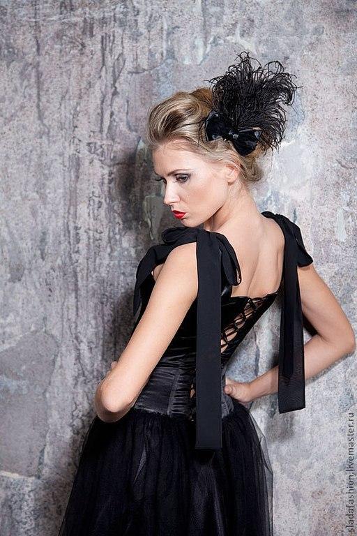 """Платья ручной работы. Ярмарка Мастеров - ручная работа. Купить Платье """"Black Princess"""". Handmade. Черный, Коктейльное платье, бархат"""