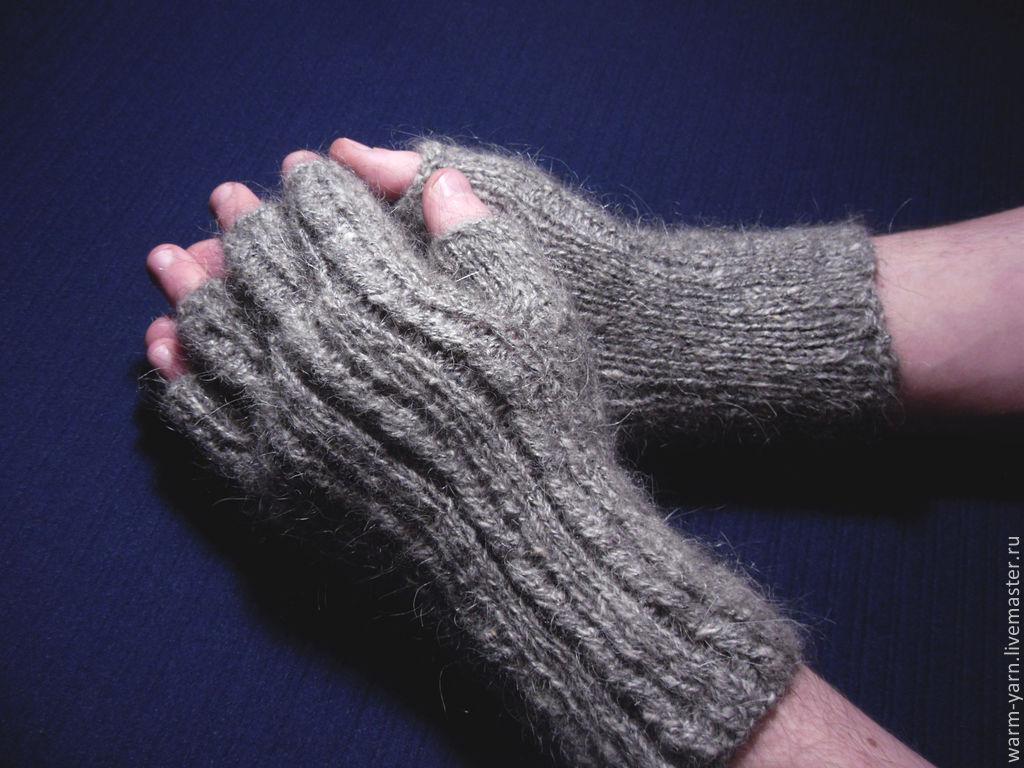 Men\'s knitted fingerless gloves \'This brutal grey\' – shop online on ...