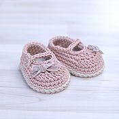 Работы для детей, handmade. Livemaster - original item Booties shoes for girl. Handmade.