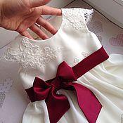 Работы для детей, ручной работы. Ярмарка Мастеров - ручная работа Детское платье Николь с кружевными рукавчиками. Handmade.