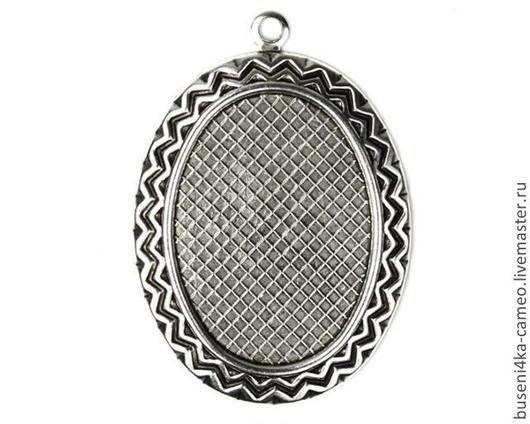 Для украшений ручной работы. Ярмарка Мастеров - ручная работа. Купить Оправа Узор 18х25мм, античное серебро (1шт). Handmade.