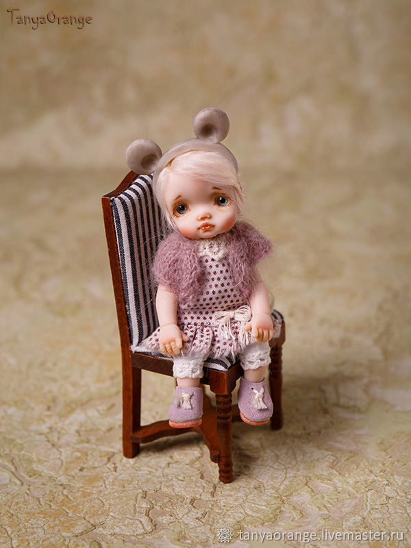 Miniature doll 9cm. made of polymer clay, Ball-jointed doll, Nizhny Novgorod,  Фото №1