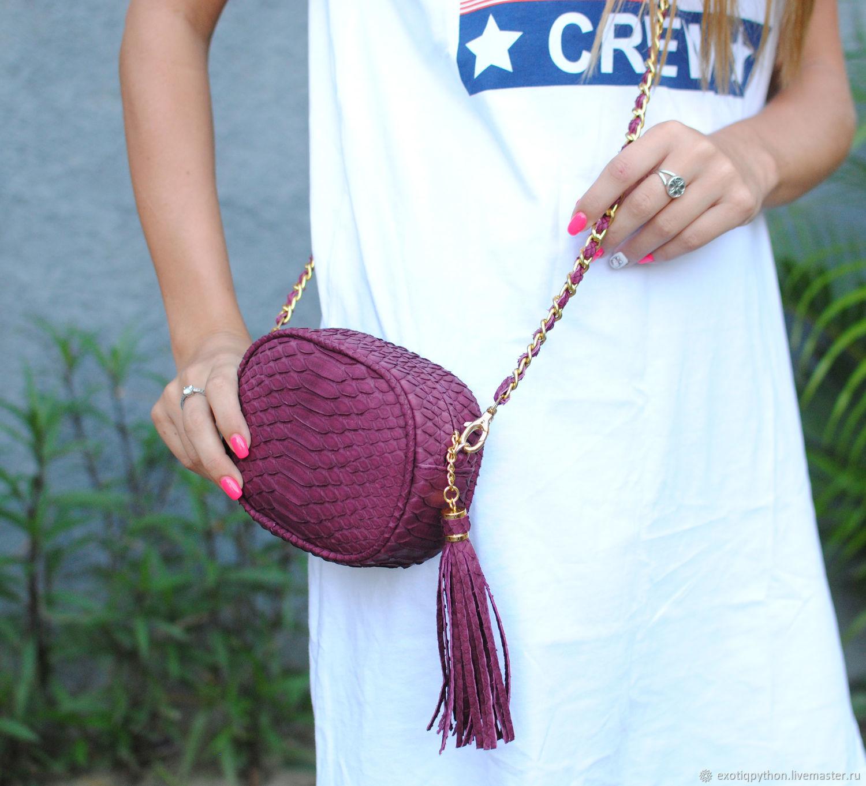 Handbag made of Python-Mini Cherry, Classic Bag, Moscow,  Фото №1