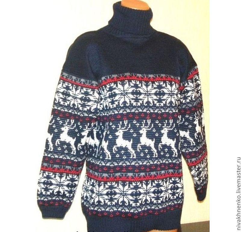3da483406d4d5e4 Кофты и свитера ручной работы. Ярмарка Мастеров - ручная работа. Купить Вязаный  свитер с ...