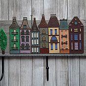 Для дома и интерьера handmade. Livemaster - original item Housekeeper-hanger Amsterdam 5. The housekeeper wall.. Handmade.