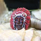 Украшения handmade. Livemaster - original item Ring Injun Injun Ring leather. Handmade.