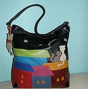 Classic Bag handmade. Livemaster - original item Bag leather