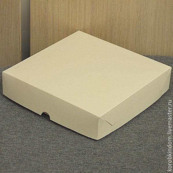 Коробка 16х16х3,5 крышка-дно кремовая (айвори, слоновая кость), Материалы для творчества, Санкт-Петербург, Фото №1