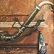 Винтаж handmade. Livemaster - original item Necklace by Lia Shabshina-Finift, Painted by the USSR 1930-1940. Handmade.