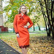 Одежда handmade. Livemaster - original item New autumn Dress with bowknot - Red. Handmade.