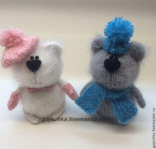 Игрушки животные, ручной работы. Ярмарка Мастеров - ручная работа. Купить Два медведя. Handmade. Комбинированный, помпон, белый медведь