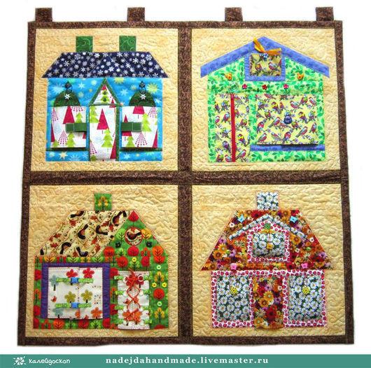 Развивающий коврик `Кто в домике живет?`-Времена года
