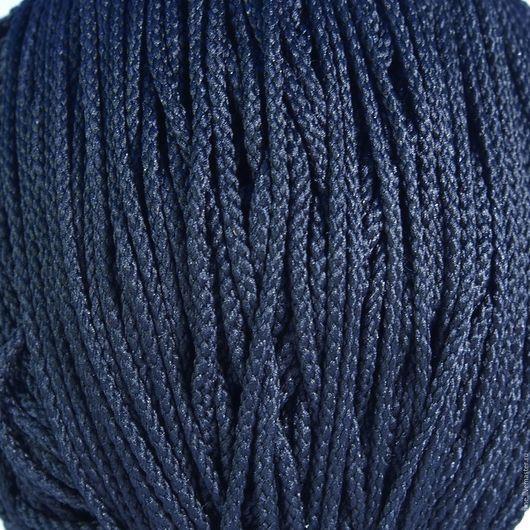 Для украшений ручной работы. Ярмарка Мастеров - ручная работа. Купить Шнур плетеный полиэфирный 3,5 мм тёмно-синий. Handmade.