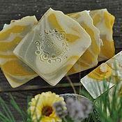 Косметика ручной работы. Ярмарка Мастеров - ручная работа Зеленый янтарь, натуральное мыло унисекс сваренное на овсянке. Handmade.