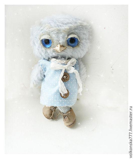 Мишки Тедди ручной работы. Ярмарка Мастеров - ручная работа. Купить Селеста - сова из белого леса. Handmade. Голубой