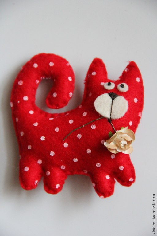Игрушки животные, ручной работы. Ярмарка Мастеров - ручная работа. Купить подарок коты магниты.День Св. Валентина. Handmade.