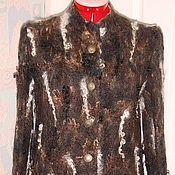 Одежда ручной работы. Ярмарка Мастеров - ручная работа Кардиган из шерсти Щербет. Handmade.
