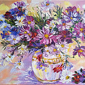 Картины и панно handmade. Livemaster - original item Painting with a bouquet of flowers