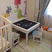 Мебель ручной работы. Ярмарка Мастеров - ручная работа Детский стол + два стула. Handmade.