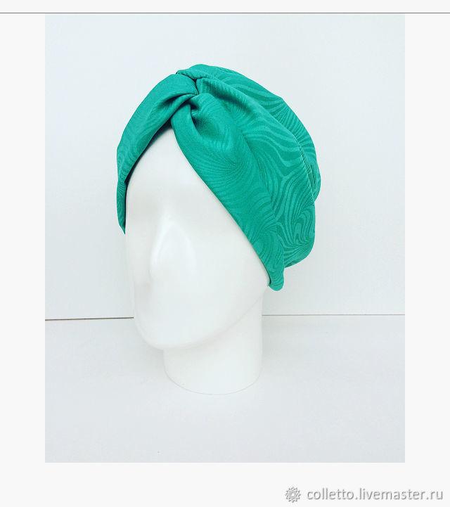 Fedoras & formal hats handmade. Livemaster - handmade. Buy Turban-turban ' Emerald'.Headband, hat, summer hat