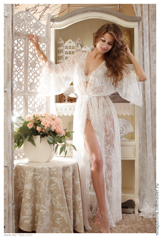 Свадебный халатик для невесты