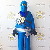 Одежда handmade. Livemaster - original item Lego Ninjago Blue Jay costume (close helmet). Handmade.