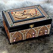 "handmade. Livemaster - original item Large chest ""The little humpbacked horse"". Handmade."