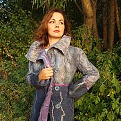 Одежда ручной работы. Ярмарка Мастеров - ручная работа Валяное пальто. То закат, то сумерки.. Handmade.