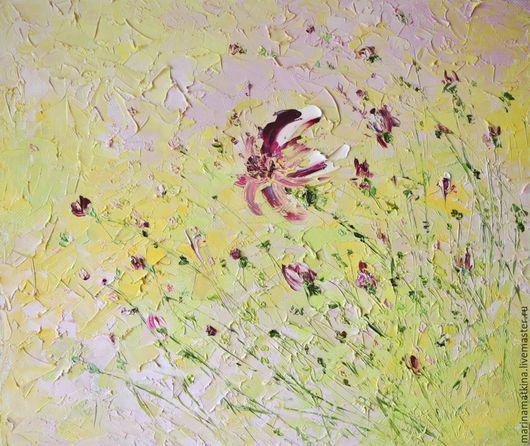 нежно оливковая картина маслом с цветами, картина для кухни, картина в столовую, стиль прованс в интерьере, картина подарок хозяйке дома, неторопливый утренний кофе, розовые шторы, Марина Маткина Перм