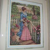Картины и панно ручной работы. Ярмарка Мастеров - ручная работа В её саду. Handmade.