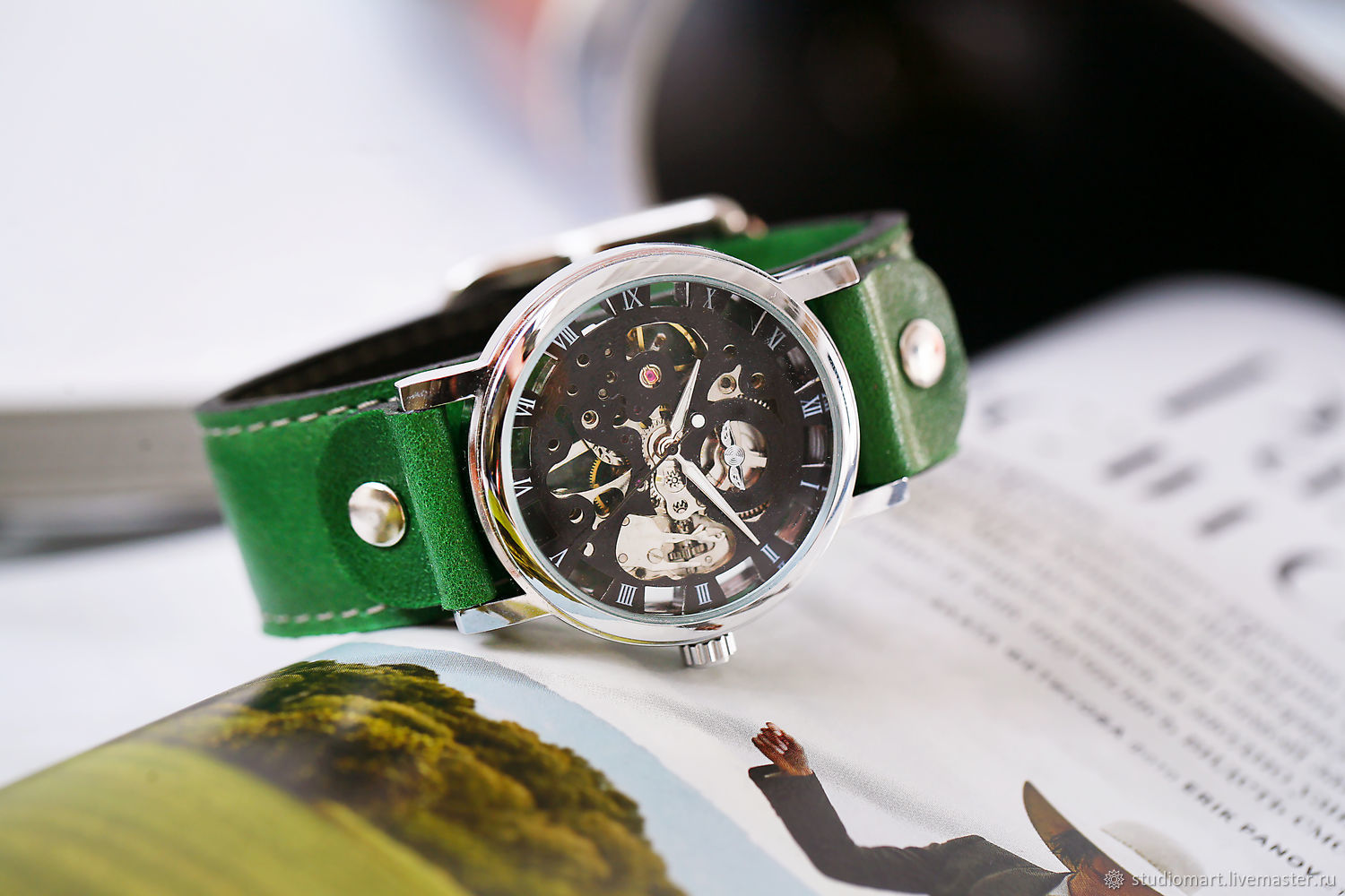 watches: Belts Green, Watches, St. Petersburg,  Фото №1