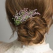 Свадебный салон handmade. Livemaster - original item Lavender branch wedding decoration bride hairstyle. Handmade.