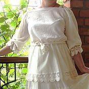 Одежда ручной работы. Ярмарка Мастеров - ручная работа Блузка летняя с кружевом. Handmade.